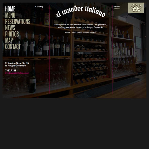 El Cazador Italiano - Website